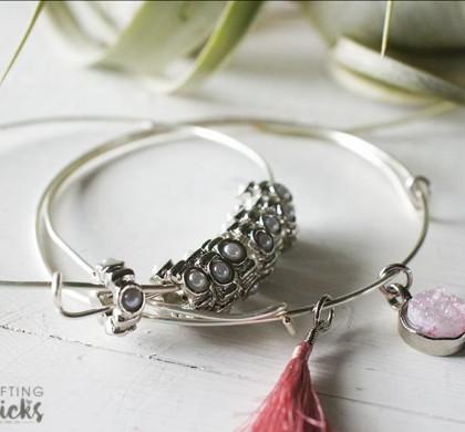 DIY Stackable Wire Bangles