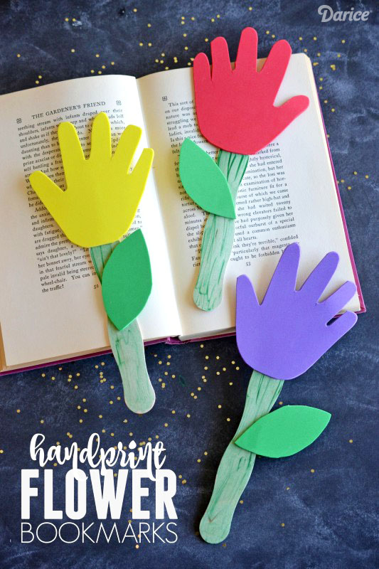 Handprint Flower Bookmark