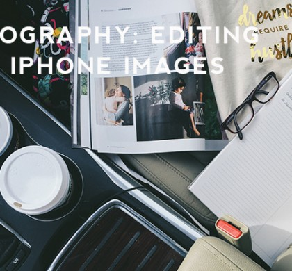 Photography: Editing Your iPhone Images