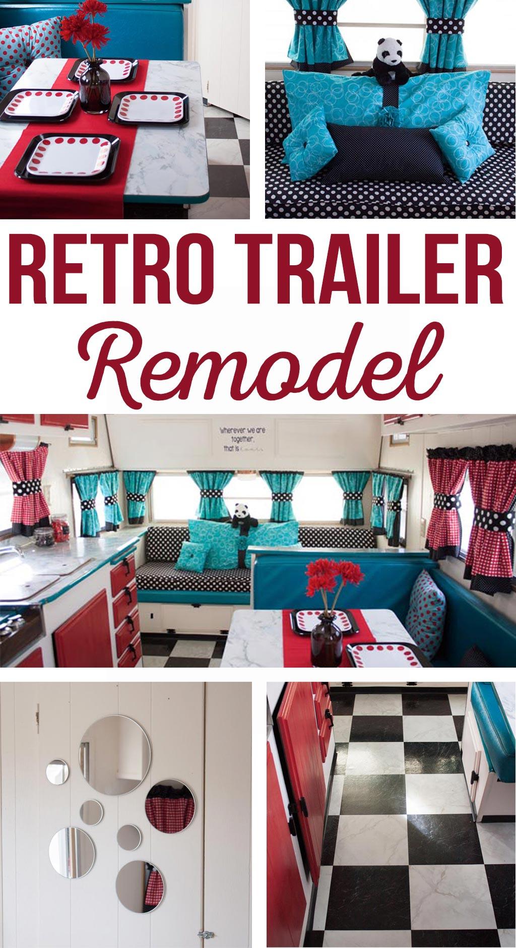 Vintage Trailer Remodel - Retro Trailer - This is SO cute! Love this glamper!! Retro Trailer Remodel