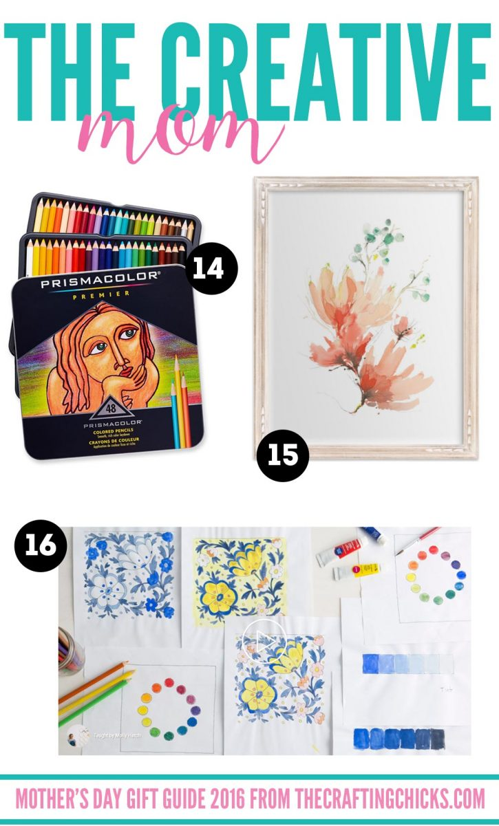Mother's Day Gift Guide for the Creative Mom on thecraftingchicks.com