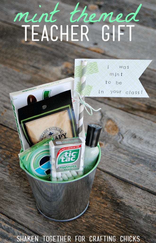 Your teacher will love this fun Mint Themed Teacher Gift - what a cute way to thank a teacher for a job well done!