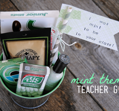 Mint Themed Teacher Gift – Easy & Affordable!