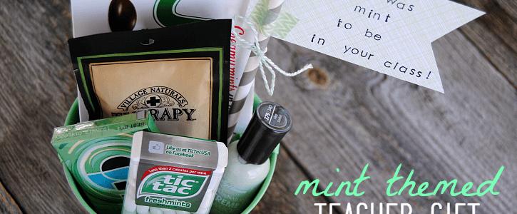 Mint Themed Teacher Gift – Easy & Affordable!