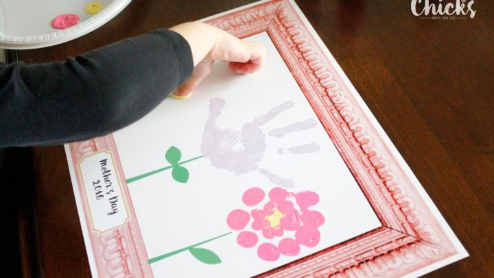 Mother's Day Handprint Flowers 2016