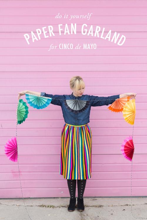 DIY Cinco de Mayo Paper Fans