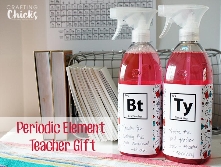 Periodic Element Teacher Gift Idea - Scientific Thank You Printable