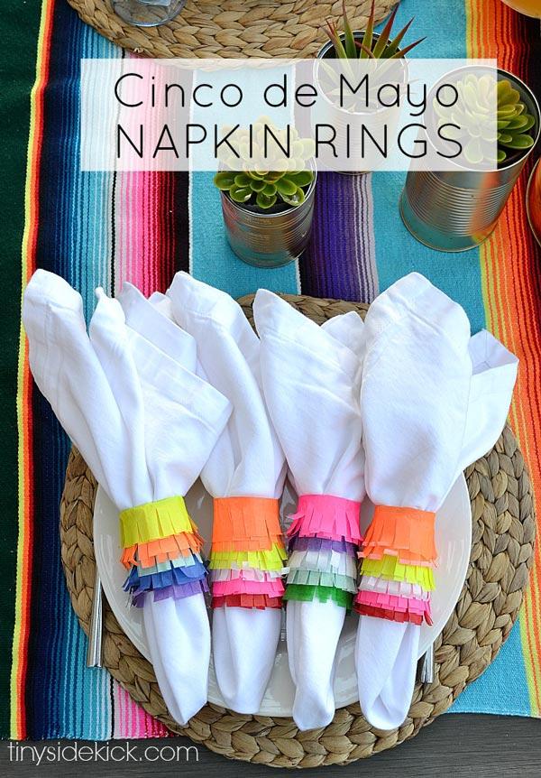 DIY Cinco de Mayo Napkin Rings