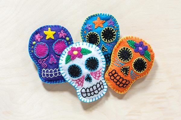 DIY Felt Sugar Skulls