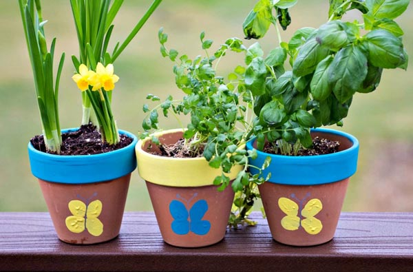 DIY Tumbprint Flower Pot