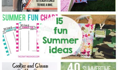 15 fun Summer Ideas - printables, kids activities, recipes, crafts, and so much more!