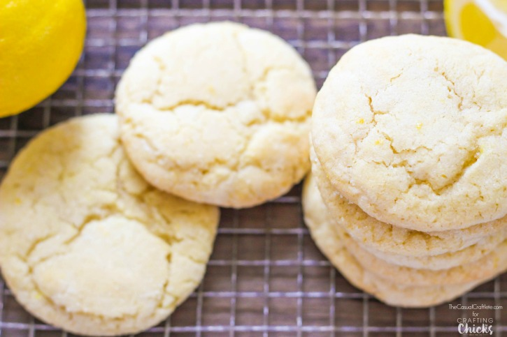 Soft Lemon Sugar Cookies - easy to make with simple baking ingredients. These cookies have just the right amount of lemon flavor and taste amazing!