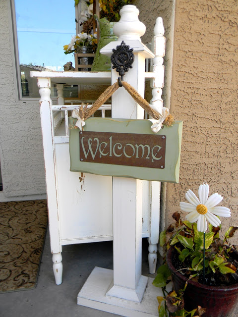 Summer Porch Ideas - Moss Wreath, Planters, DIY Sign Post, Painted Cement, Herb Garden, Tabletop S'mores, Porch Curtains and so much more!