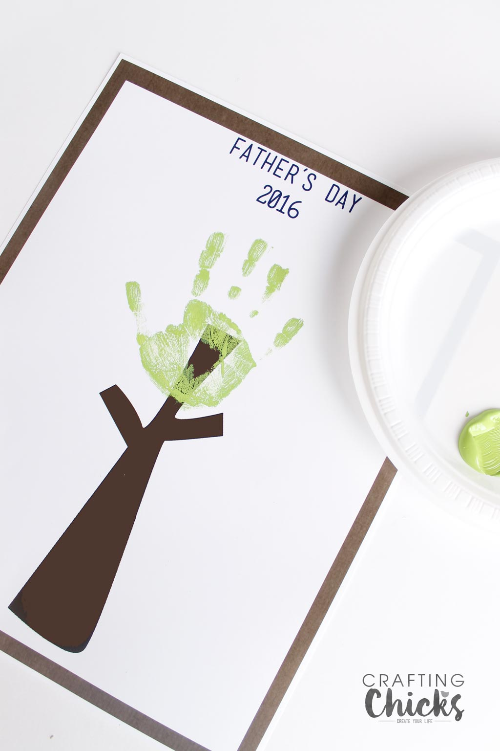 Father's Day Handprint Tree. Great gift idea.