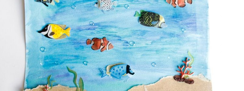 Water Color Ocean Art for Kids
