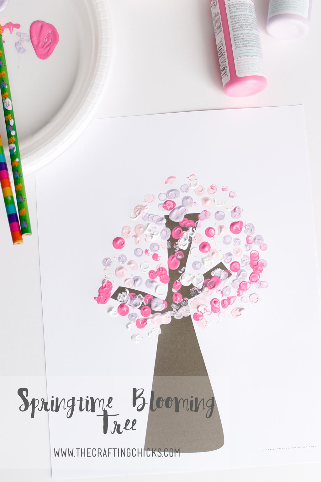 DIY Springtime Blooming Tree Kids Craft