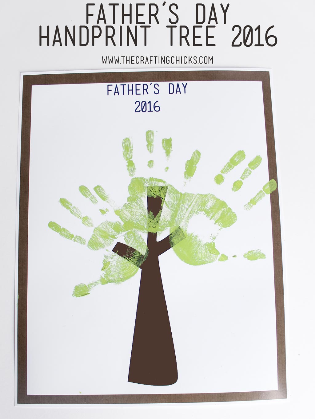 Father's Day Handprint Tree 2016