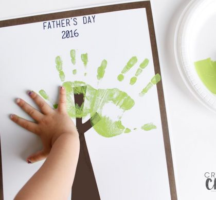 Fathers Day Handprint Tree 2016
