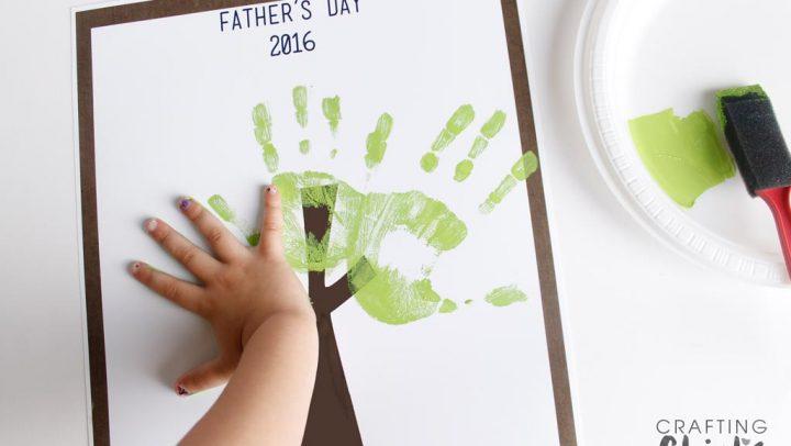 Fathers Day Handprint Tree 2016