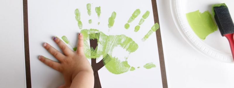 Fathers Day Handprint Tree