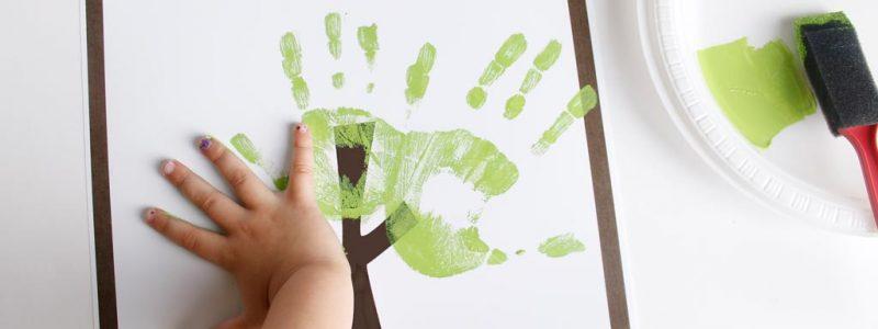 Fathers Day Handprint Tree
