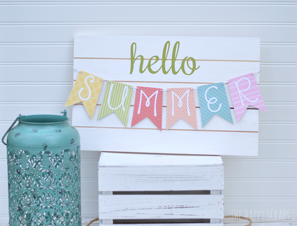 DIY Summer Banner - Pallet Sign