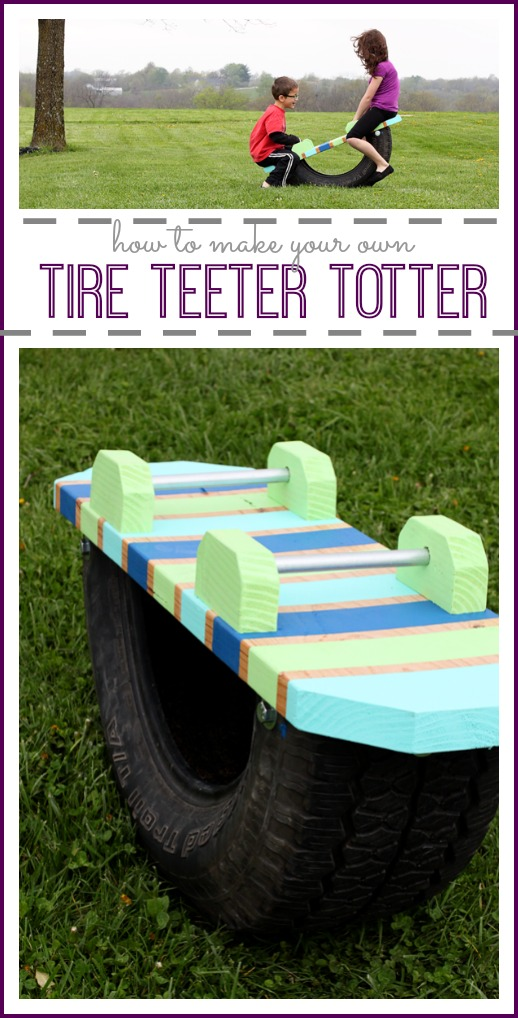 DIY Tire Teeter Totter | Backyard Kids Activity