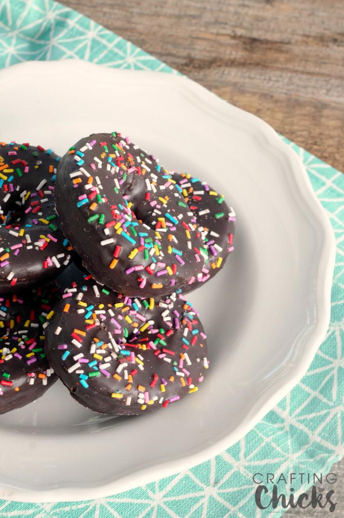 Mini Donut Ice Cream Sundaes are the cutest sprinkled no bake dessert perfect for Summer!