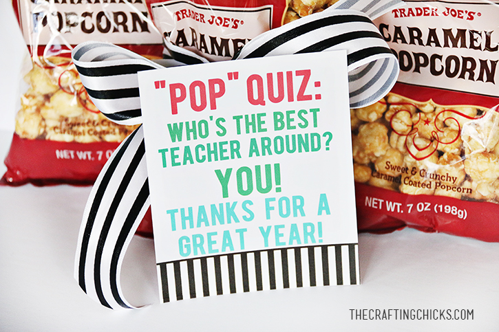 Popcorn Teacher Gift Idea