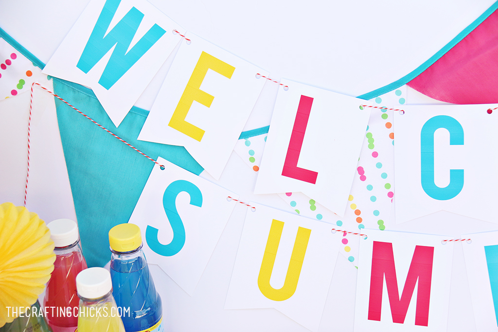 Show Summer how excited you are that it's here with this Welcome Summer Banner. Perfect for those last day of school celebrations.