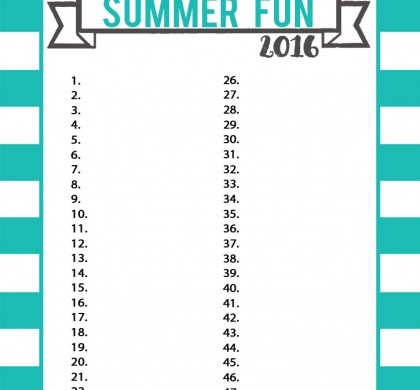 Summer Fun Chart 2016
