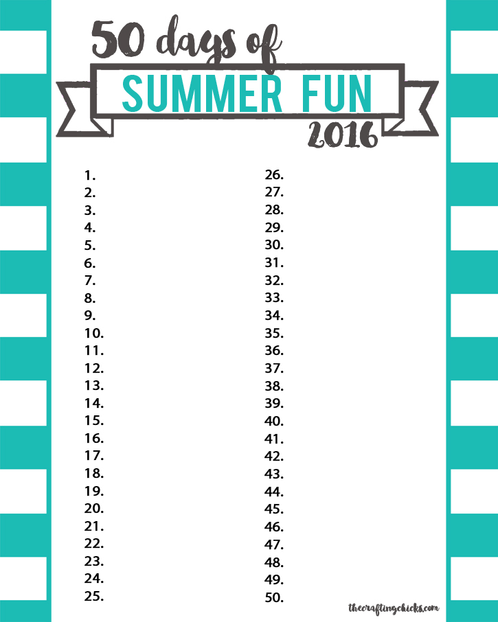 sm summer fun chart blue