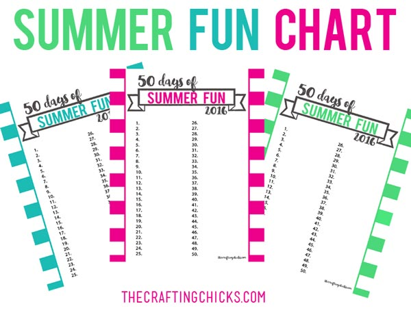 Summer Fun Chart - Printable