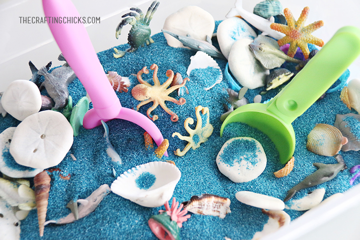 Ocean Summer Sensory Bin