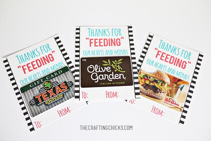 Teacher Gift Card | Teacher Restaurant Gift Card Free Printable