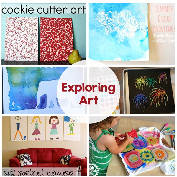 Exploring Art - Simple, fun art projects for kids! Keep them entertained this summer!