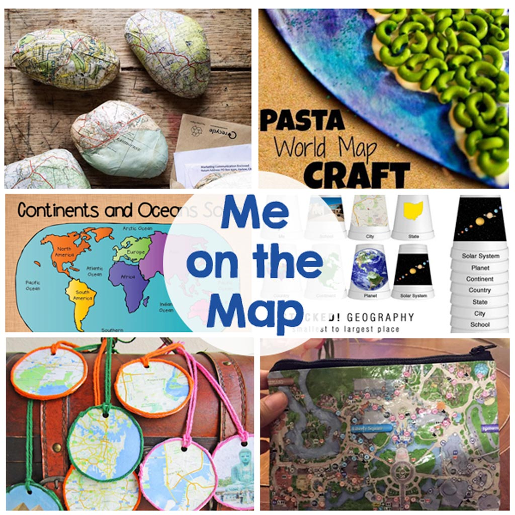 Me on the Map - Activities, games, crafts, printables - These activities will keep the kids busy this summer!