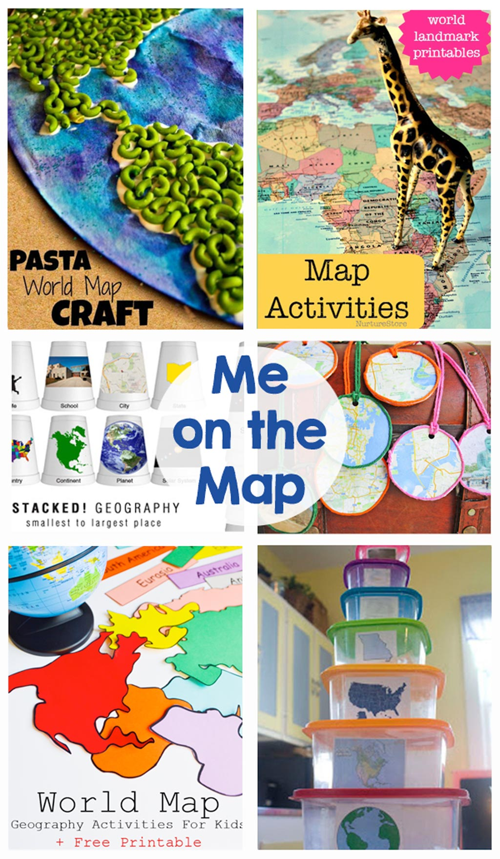 Me on the map the crafting chicks me on the map activities games crafts printables these activities will gumiabroncs Gallery
