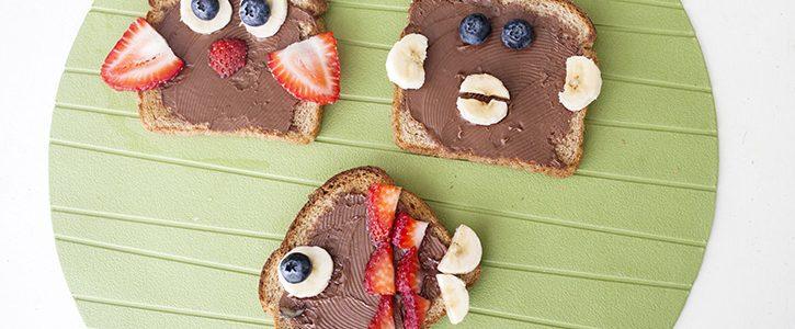 Toast Animals Simple Snack Idea