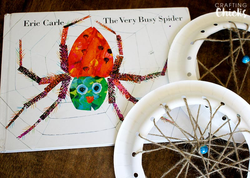 Very Busy Spider Web Kids Craft