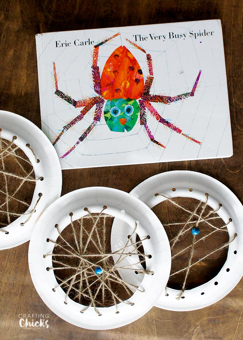 The very busy spider spider webs the crafting chicks for Art and craft books for kids