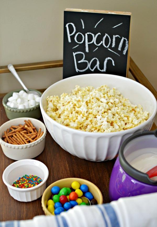 Family Night Popcorn Bar