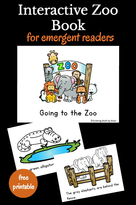 Going to the Zoo Book Printable