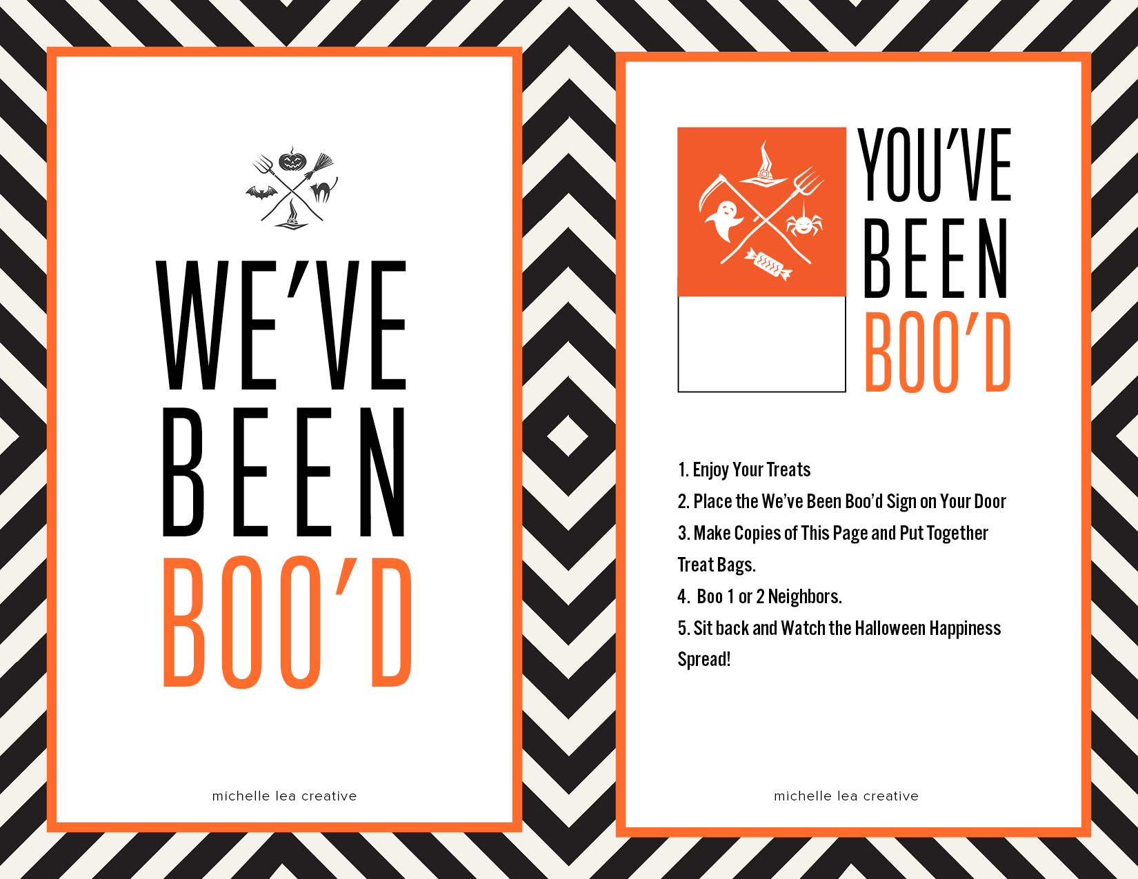 You've Been Boo'd Halloween Kit - The Crafting Chicks
