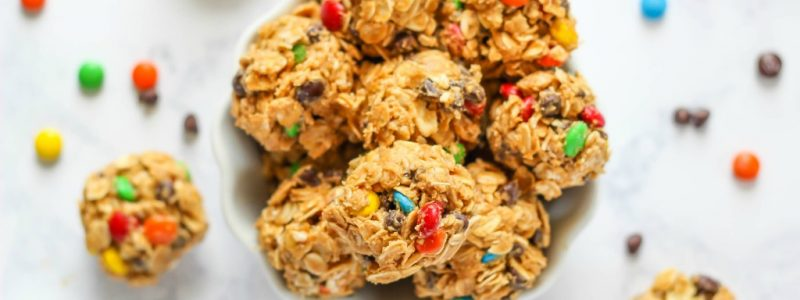 No Bake Monster Cookie Bites