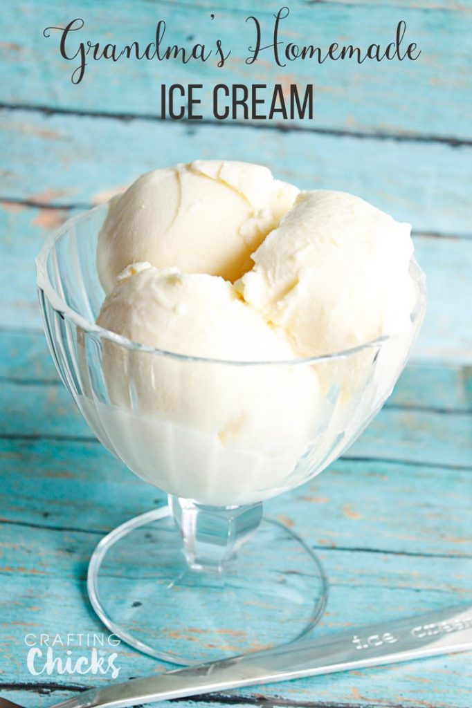 Grandmas Homemade Vanilla Ice Cream