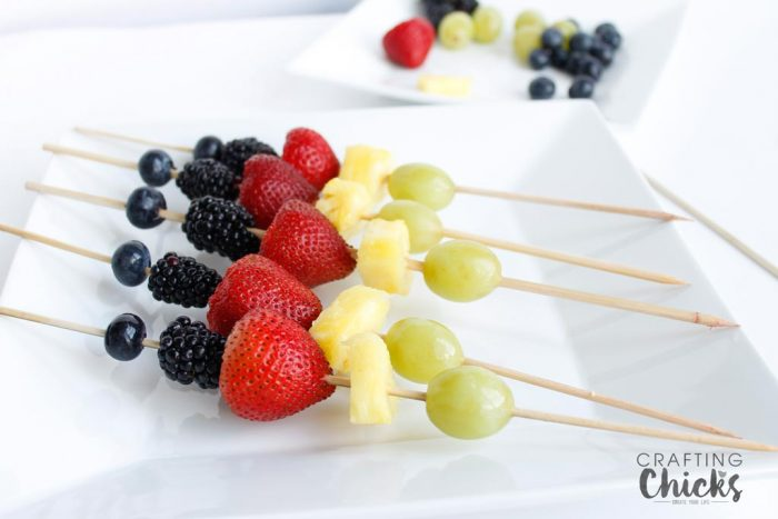 Olympic Inspired Fruit Skewers