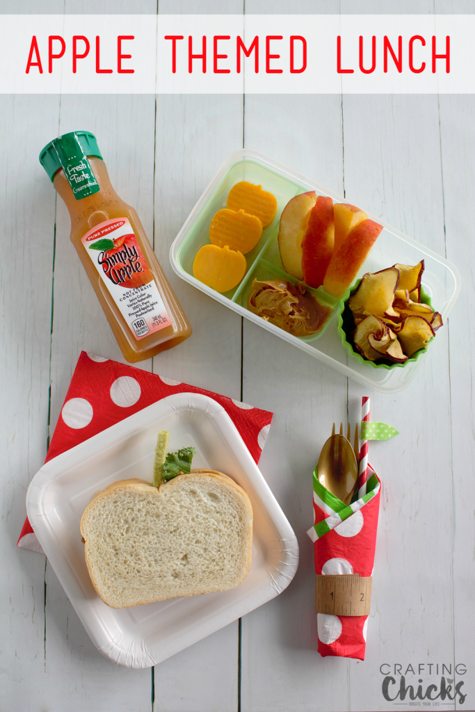 The kids will LOVE this fun Apple Themed Lunch! Back to school won't be such a bummer with this yummy lunch!