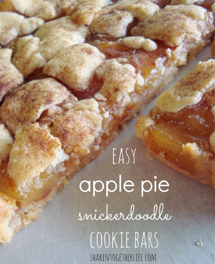 Apple Pie Snickerdoodle Cookies Bars from Shaken Together