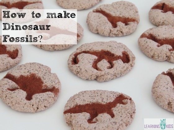 how to make pretend dinosaur bones